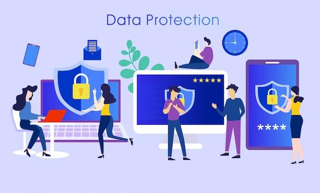 Conceito de caráter de sistema de proteção de dados