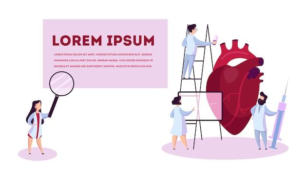 Conceito de cardiologia. idéia de cuidados cardíacos e médicos