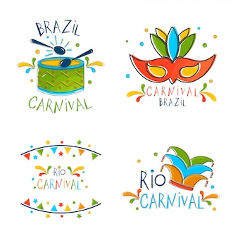 Conceito de carnaval brasileiro.