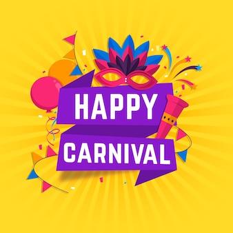 Conceito de carnaval de design plano