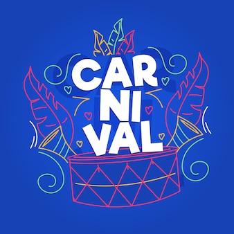 Conceito de carnaval desenhado de mão