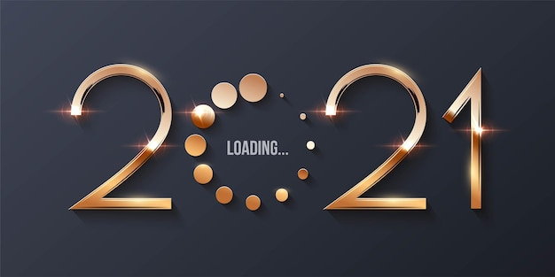 Conceito de carregamento de feliz ano novo de 2021.