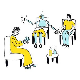 Conceito de carreira futura de conselheiro de relacionamento do android