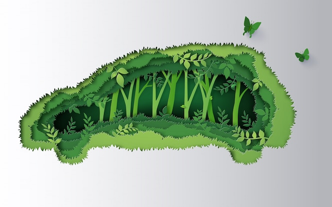 Conceito de carro ecológico