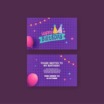 Conceito de cartão de aniversário