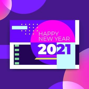 Conceito de cartão de ano novo 2021