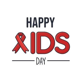 Conceito de cartão de dia de aids