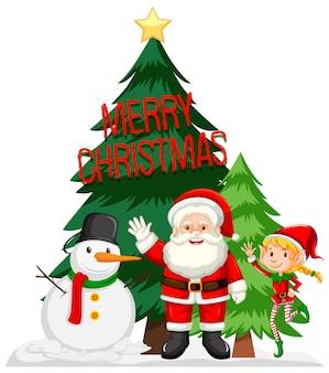 Conceito de cartão de feliz natal