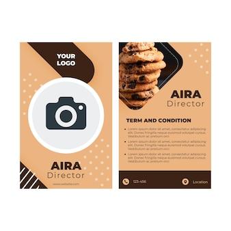 Conceito de cartão de identificação de cookies Vetor grátis