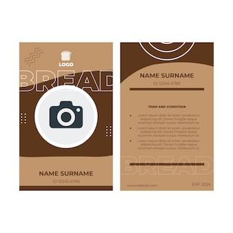 Conceito de cartão de identificação de pão