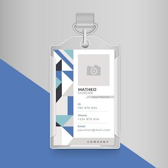 Conceito de cartão de identificação empresarial