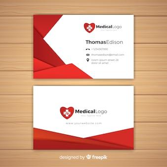 Conceito de cartão de visita médica profissional