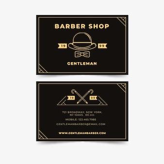 Conceito de cartão de visita para barbearia em nova iorque