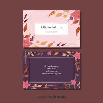 Conceito de cartão de visita para modelo