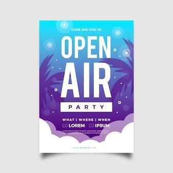Conceito de cartaz de festa ao ar livre