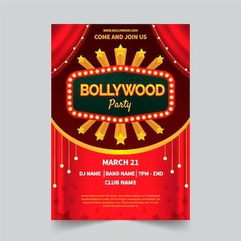 Conceito de cartaz de festa de bollywood