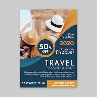 Conceito de cartaz de viagens