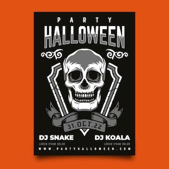 Conceito de cartaz feliz festa de halloween
