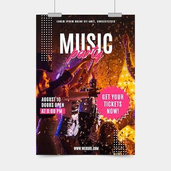 Conceito de cartaz festival de música 2021