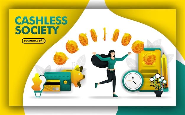 Conceito de cartaz para uma sociedade sem dinheiro