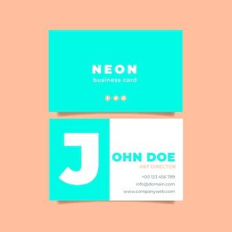 Conceito de cartões de néon