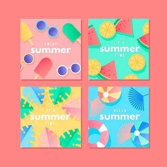 Conceito de cartões de verão