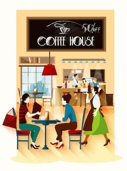 Conceito de casa de café