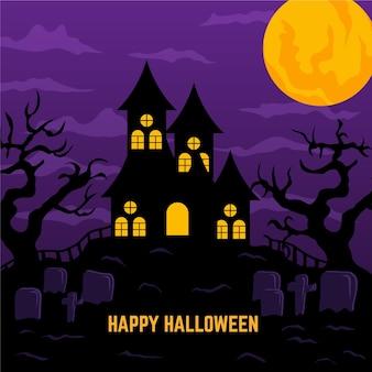 Conceito de casa de halloween