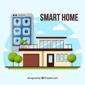 Conceito de casa inteligente