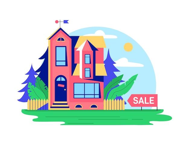Conceito de casa para alugar