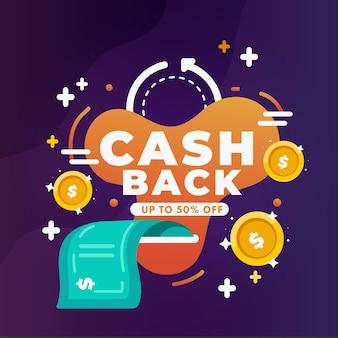 Conceito de cashback gradiente
