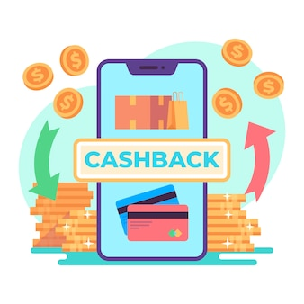Conceito de cashback ilustrado