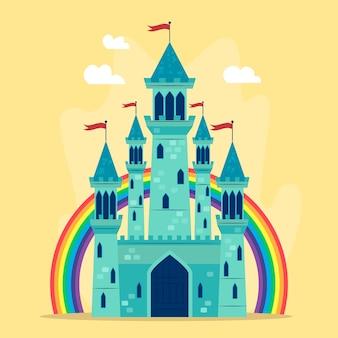 Conceito de castelo bonito conto de fadas