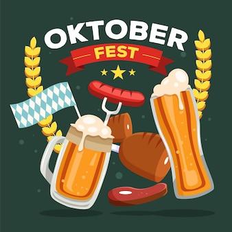 Conceito de celebração da oktoberfest