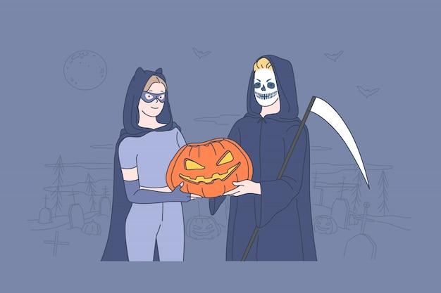 Conceito de celebração de feriado do dia das bruxas.