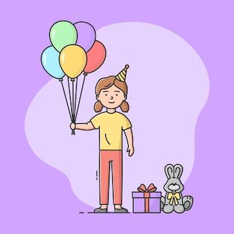 Conceito de celebração de festa de aniversário de infância.