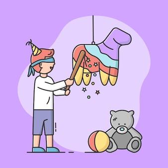 Conceito de celebração de festa de aniversário.