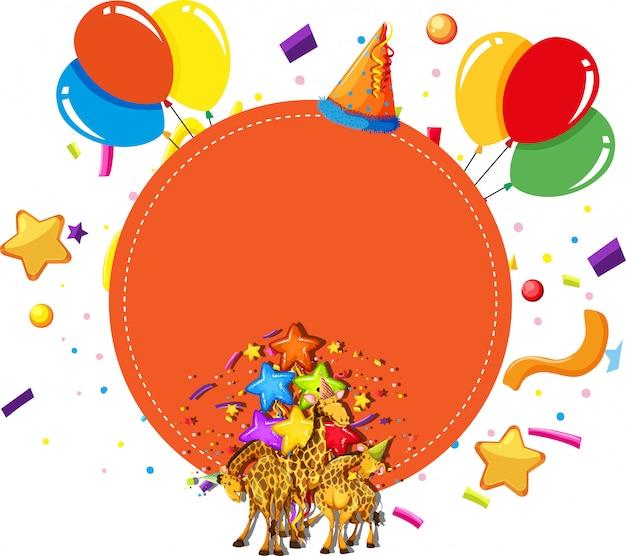 Conceito de celebração de festa de girafas