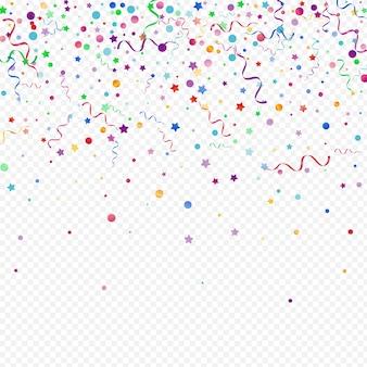Conceito de celebração do aniversário da serpentina de confete