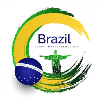 Conceito de celebração do dia da independência do brasil.