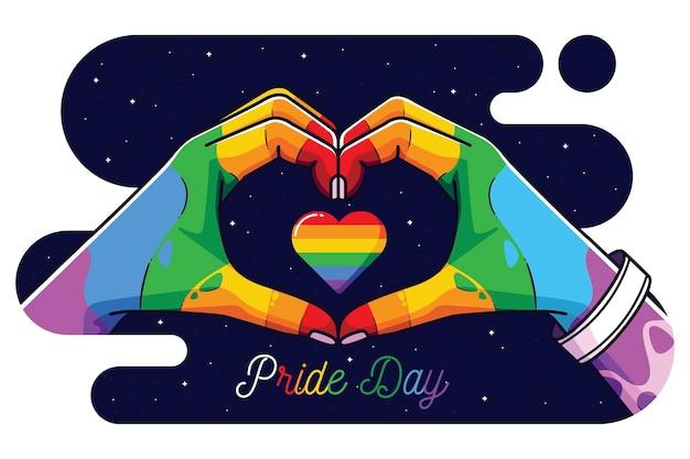 Conceito de celebração do dia do orgulho
