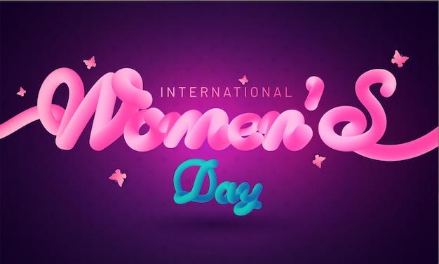 Conceito de celebrações do dia internacional da mulher.