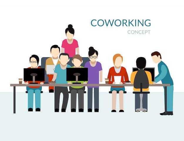 Conceito de centro de coworking