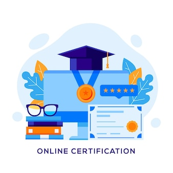 Conceito de certificação online