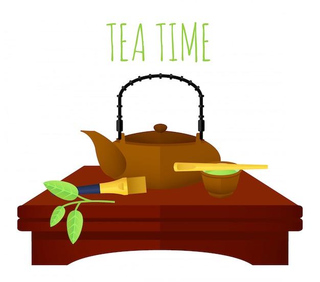 Conceito de chá chinês tradicional