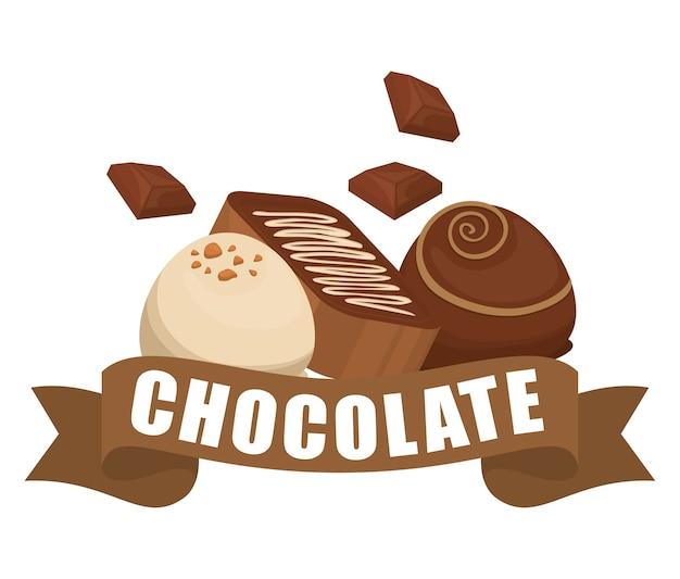 Conceito de chocolate com design de ícone