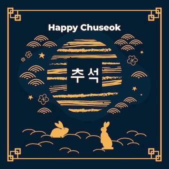 Conceito de chuseok desenhado à mão