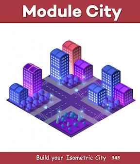 Conceito de cidade ultra isométrica