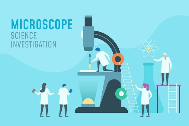 Conceito de ciência com microscópio