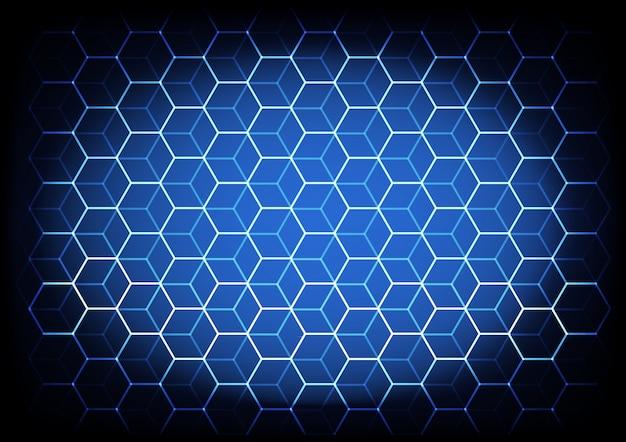 Conceito de ciência e tecnologia abstrata com fundo de elementos hexagonais